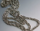 Silver Tone Chunky Chain Wear Upcycle
