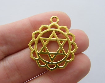 4 Chakra charms gold tone GC45