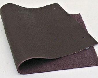 Full Grain Dark Purple Eggplant Leather Scrap