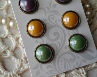Post Earrings,Stud Earrings,Glass Earrings,Boho Jewelry,Fall Fashion,Fall Jewelry