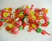 Plastic Lifesaver and Candy Cane Christmas Garland