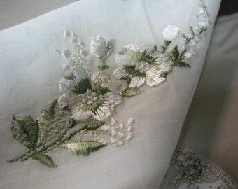 Gift for Bride - Vintage Ladies Handkerchief