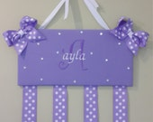 Bow holders embroidered, Headband Holder  ,custom made, personalized all included