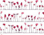 WONDERLAND by Katarina Roccella, Petal Flamingoes Love - AGF  1/2 Yard