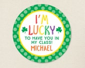 St. Patrick's Day Stickers - I'm Lucky to Have You In My Class - Sheet of 12 or 24
