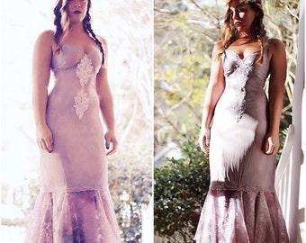 Slip Dress, boho Music festival, romantic bohemian slip dress, Whimsical mermaid lilac fairy dress, Woodland dresses, True rebel clothing