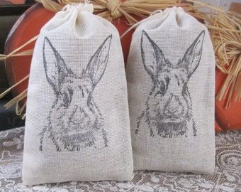 NEW french market le lapin bunny lavender sachets set of 2