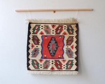 Vintage Weaving, Small Kilim Sampler Weaving