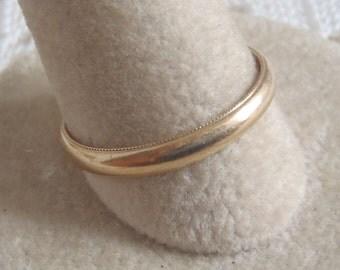 Vintage Wedding Band Ring 14K Yellow Gold Size 9