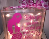 Before You Were Born Lighted Glass Block CUSTOM ORDER