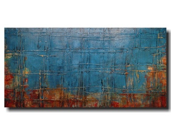 Large oil painting - 24 X 48 - Art by JMJartstudio- Taking sides  -Wall art-wall decor -Oil painting- XXl Painting