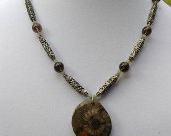 Celtic Ammonite Necklace