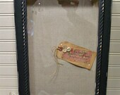 Wall Jewelry Holder - Wood Shadow Box - Chalk Paint - Rustic - Primitive - Home Decor Storage - Farmhouse Chic