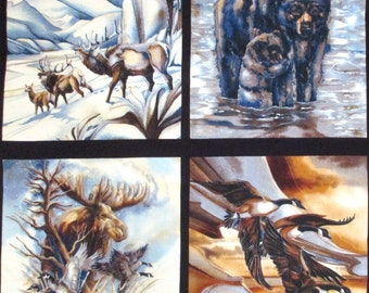 Wild Animals Panel Fabric 23""