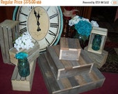 on sale Rustic cake stands BUNDLE crates rustic cupcake stand wedding decorations reception 3 Tier Cake wooden Barn wood country outdoor far