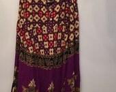 SUMMER SALE Vintage Bohemian Batik Dress • Rayon Dress • Summer Dress • Batik Free Size