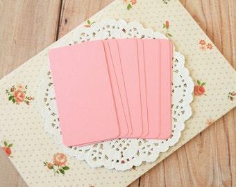 Bubblegum Pink 50pc handmade blank Business Cards