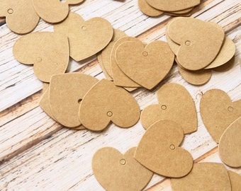 Mini HEART DIY Collection Kraft Tags