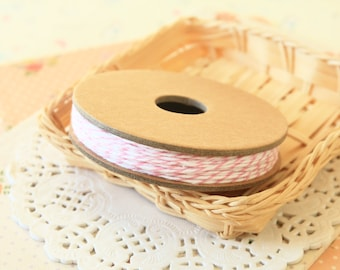 Pink COTTON CANDY Divine Twine 20yd Reel 4-ply cotton bakers twine string
