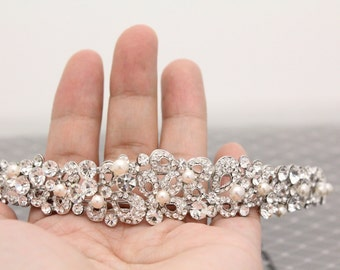 Wedding headband pearl Bridal headband vintage Wedding hair accessory headband Bridal Headpiece Headband Wedding hair Jewelry Headband pearl