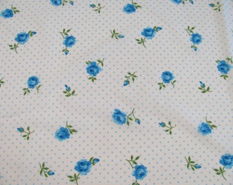 Vintage Full / Double Flat Sheet - Cannon Monticello - 50/50 Blend - No-Iron Muslin -
