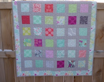 Canyon Lap Quilt - Handmade, Patchwork