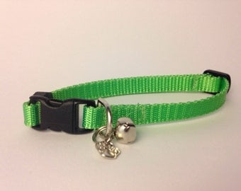 Cat Collar in Basic lime green