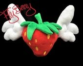 FlyBerry™ Plush Toy - Strawberry with Wings Plushie - Angel Strawberry - Giant Strawberry Plush