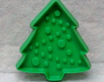 """Miniature Christmas Tree Cookie Cutter - Green Or Red Hallmark Cookie Mold Detailed Plastic 2 1/4 """" High Tree Cut Out - Mint - Cookie Recipe"""