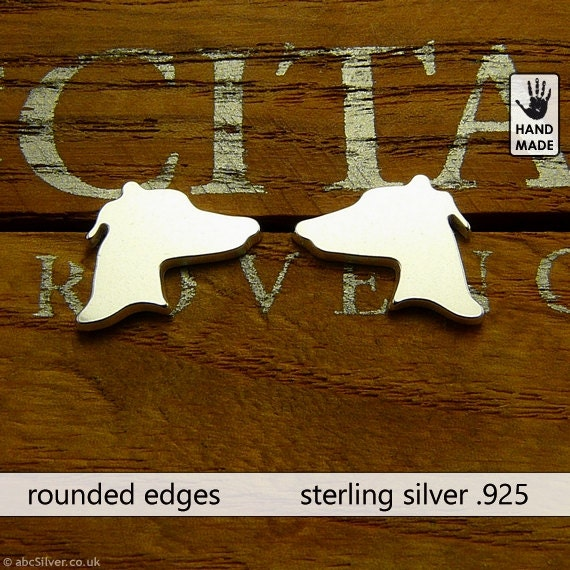 GREYHOUND Handmade Sterling Silver .925 Earrings in a gift box
