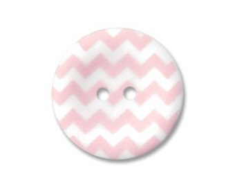 Riley Blake Sew Together buttons - Matte chevron in Baby Pink - 4pack