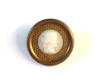 Victorian Cameo Glass Button LG