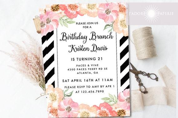 Birthday Brunch Invitations | wblqual.com