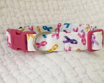 Dog Collar Custom Made Lavender Floral Dog Collar