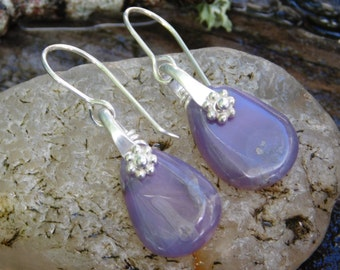 Rustic Oregon Holley Blue Agate Dangle Earrings