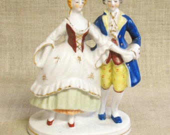 Occupied Japan, Figurine, Male and Female, 20.00 Gifts, Dancing Couple, Ceramic Figurines, Japan, Antique, Figures, Couple, Curio, Dancing