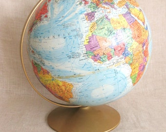 Globe , World Globe , Mid-Century , Sphere , Geography , Planet Earth , Earth , School Globe , Globe on Base , Wooden Base , Globes , Maps