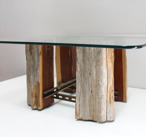 Arbre souche Table basse bois récupéré Base par realwoodworks1