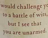 Cup or Mug Shakespeare's Battle of Wits Challenge