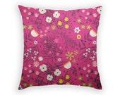Throw Pillow - Floral Pillow Cover - Australian Wildflowers - Linen Cushion