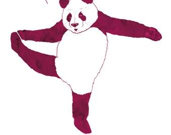 Panda illustration, Panda print, Panda poster, Art print Panda