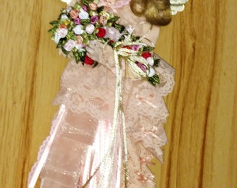 REDUCED Christmas Angel Tree Topper, Victorian Style