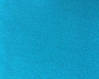 Teal Rayon Fabric Yardage Destash