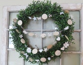 Glimmer and Lace snowflake vintage garland