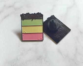 Italian Rainbow Cookie Enamel Pin/ Lapel Pin