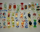 Art Glass Candies Murano and Others, 34 Pieces