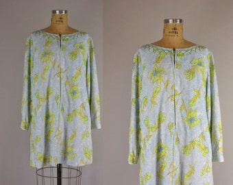 vintage 1960s swimsuit cover /Gabar swimsuit cover up / Petaled cover