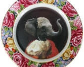 """Nathalie of France, Duchess of Nantes - Altered Vintage Plate 10.4"""""""