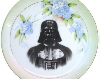 Darth Vader Portrait Plate - Altered Antique Plate 8.6""