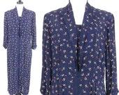 SALE 1940s Dress, Vintage 40s Atomic Print Dress, 1940s Rayon Frock Day Dress, XL